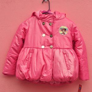 W Pink Puffed Minnie Mouse Jacket